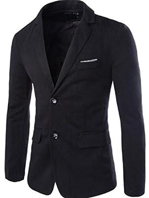 Doufine Men's Solid-Colored Knit Stylish Coat Jacket Blazer