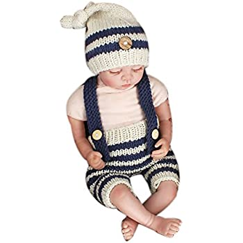 ce36968e4 Amazon.com: MSFS Baby Photo Prop Outfit Newborn Knitted Crochet ...