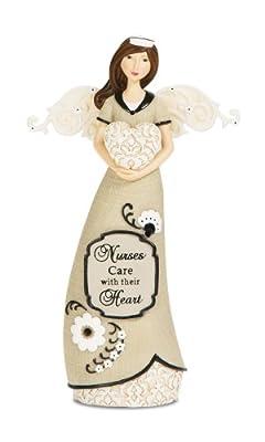 Pavilion Gift Company Modeles 88123 Angel Figurine Holding Heart, Nurse, 6-Inch