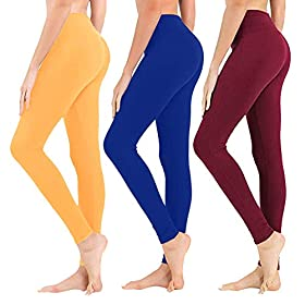 High Waisted Leggings For Women Soft Athletic Tummy Control Pants For Running Cycling Yoga Workout Reg Plus Size