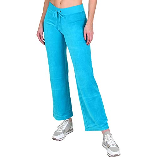 Juicy Couture Mar Vista Womens Velour Straight Leg Lounge Pants Blue Size S (Tracksuit Couture Lady Juicy)