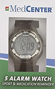 Medcenter 46466 Sports Watch Alarm Reminder Large Lcd Display