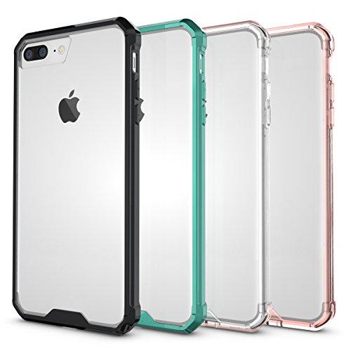"""iPhone 7 Plus Hülle, HICASER PC + TPU Hybrid Bumper Case Schutzhülle Crystal Transparent kratzfeste Tasche für iPhone 7 Plus 5.5"""" Minzgrün"""