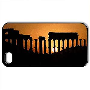 Ancient ruins - Case Cover for iPhone 4 and 4s (Ancient Series, Watercolor style, Black)
