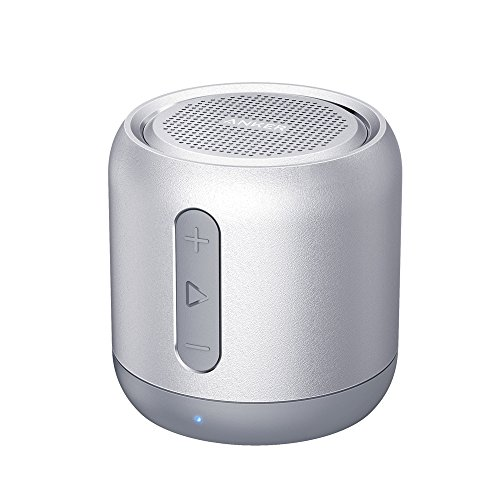 Anker SoundCore mini, Super-Portable Bluetooth Speaker with 15-Hour Playtime, 66-Foot Bluetooth Range, Enhanced Bass, Noise-Cancelling Microphone - Gray