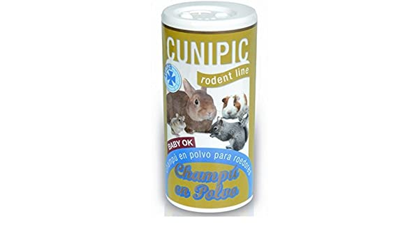 Cunipic Champu en polvo 125 ml. Rodent Line para roedores: Amazon ...