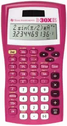 Texas Instruments TI-30X IIS 2-Line Scientific Calculator, Pink