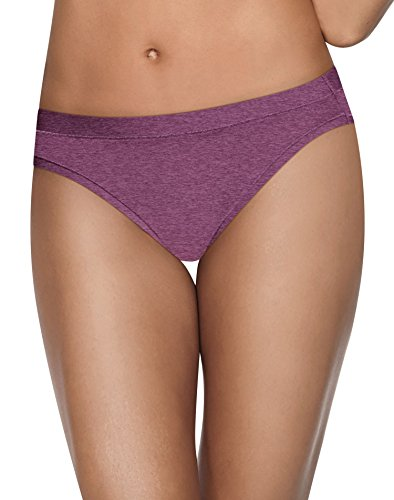 Hanes Women's Ultimate Cool Comfort Bikini, Buff/Plum/Purple/Black, 5