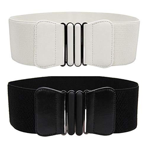 VOCHIC Wide Elastic Plus Size Belt for Women Waist Belt Stretch Waistband