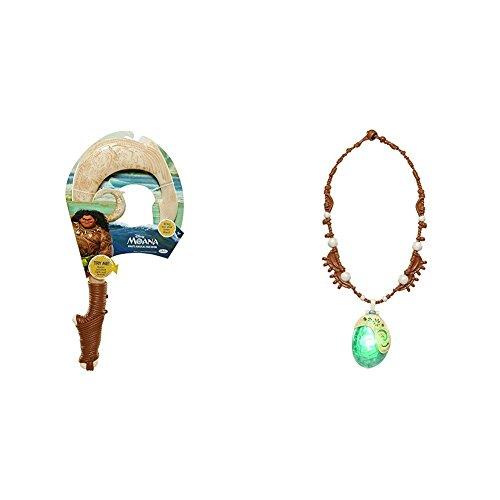 Disney's Moana Maui's Magical Fish Hook with Disney Moana's Magical Seashell Necklace Bundle
