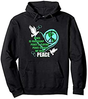 Lovely Dove Bird Tee  with Sign peace day is great gift Pullover Hoodie T-shirt   Size S - 5XL