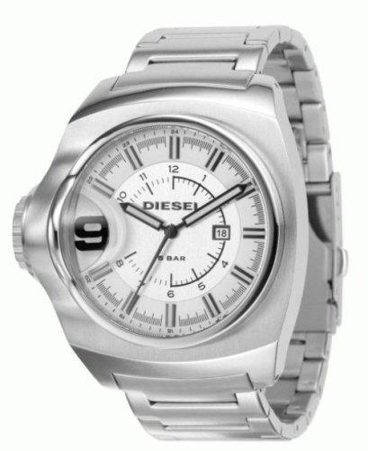 Diesel DZ1236 - Reloj analógico de cuarzo para hombre con correa de acero inoxidable, color plateado: Amazon.es: Relojes