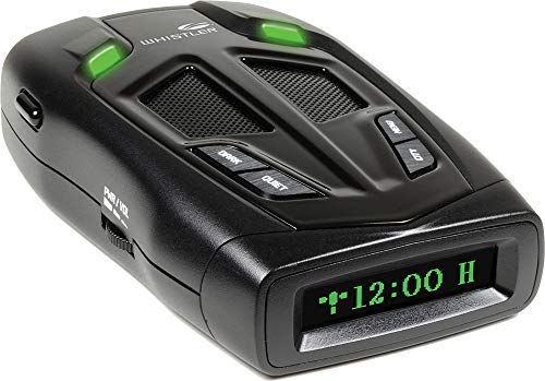 Whistler Z-31R+ Bilingual (English/Spanish) High Performance Radar Laser Detector with Real Voice Alerts and GPS Red-Light Camera Detection by Whistler