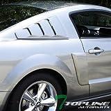 Automotive : Topline Autopart Black Gt 3 Vent Style Rear 1/4 Quarter Side Window Louvers V2 05-14 Ford Mustang