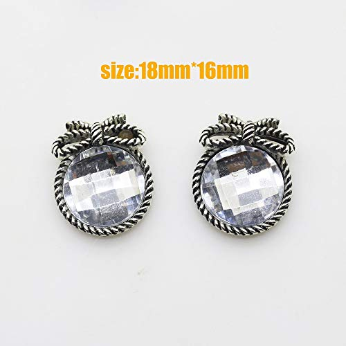 Dalab Hot 10 pcs/Set. Silver 1618mm Round Butterfly Rhinestones Buttons with Mother-of-Pearl Buttons Wedding Ornaments DIY Buckles