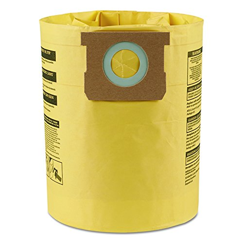 Shop-Vac 9067100 High Efficiency Collection Filter Bags, 5 8gal (Pack of (Shop Vac Dust Collection)
