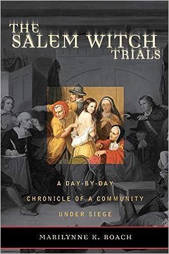 Salem Witch Trials            Pb: A Day-by-day Chronicle Of A Community Under Siege por Marilynne K. Roach