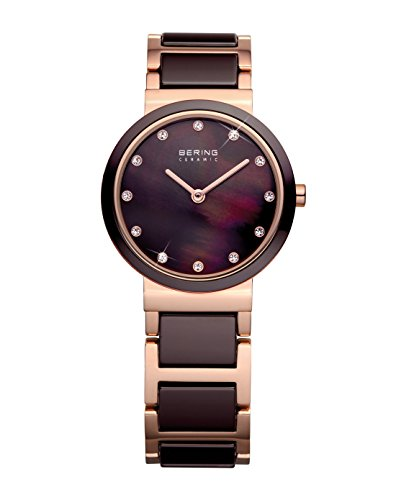 BERING Time 10729-765 Womens Ceramic Collection Watch with Stainless steel Band and scratch resistant sapphire crystal. Designed in Denmark.