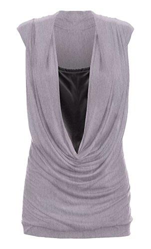 Funky Fashion Shop - Falda - para mujer gris claro