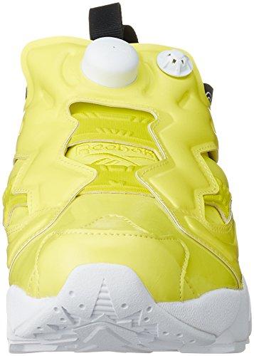 Fury Vernis Basket Overbranded black Reebok Vegane Hero Instapump white Jaune Yellow En PrXqEwXx