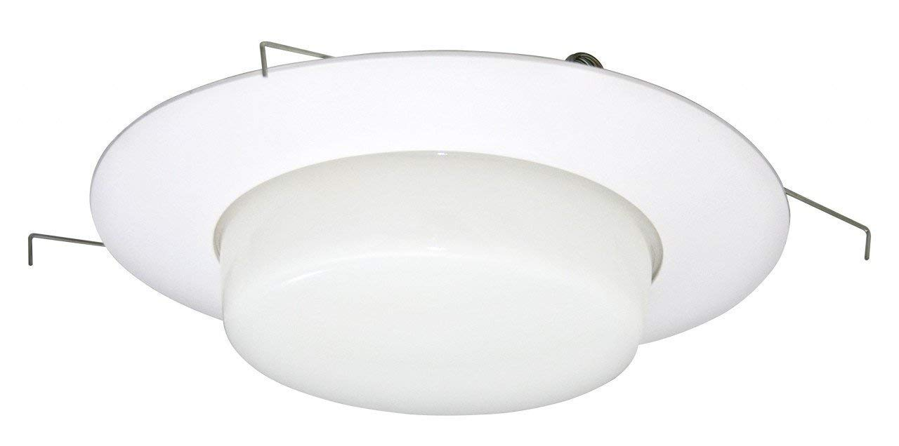 Laundry Rooms and Bathrooms,2 Pack UL Listed for Wet Locations Kitchens Waterproof Shower Light Cover Patios Great for Balconies 6 Inch Drop Opal Milky Glass Lens Trim with 8 Inch Plastic Ring