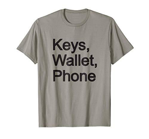 Phone T-shirt (Keys, Wallet, Phone T-Shirt)