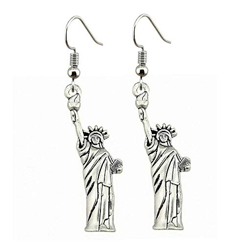 Taliyah 1 Pair Statue of Liberty Drop Earrings Jewelry Earrings with Earring Cap