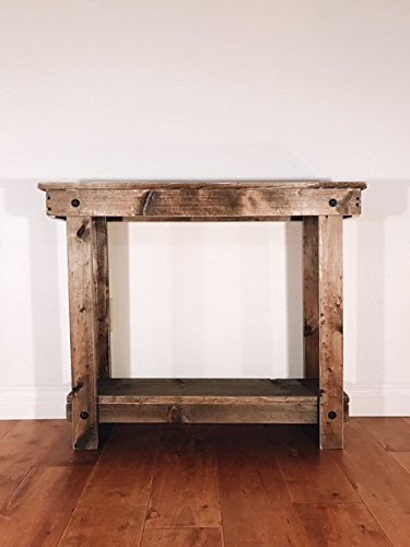 """Note Card Cafe Rustic Handcrafted Reclaimed Console Table - Self Assembly - Absolute Natural - Product Dimensions - 36""""L x 12""""W x 30""""H Made with Reclaimed Pine and Cedar Self Assembly Required - No Tools Needed - living-room-furniture, living-room, console-tables - 415r DVD2uL -"""