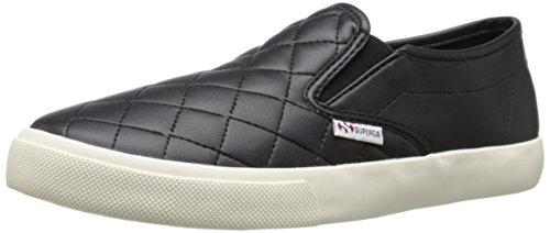 Superga Women's 2311 Quiltedpuw Fashion Sneaker, Black, 38 EU/7.5 M US