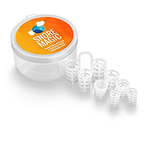 Stop Snoring Solution Nose Vents – Anti Snore Aid Relief For Deviated Septum, Nasal Congestion, & Heavy Breathing – 4 Custom Size Soft Silicone Nasal Dilators, Basket Style with Case, by Snore Magic
