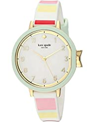 kate spade new york Womens Park Row Quartz Stainless Steel and Silicone Casual WatchMulti Color (Model: KSW1410)