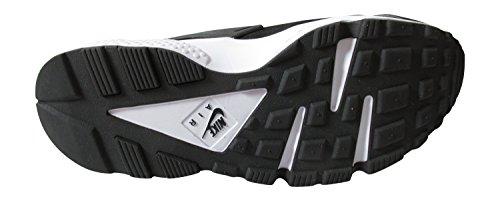 Nike Air Huarache Mens Scarpe Da Ginnastica 318429 Scarpe Da Ginnastica Nere / Bianco-grigio Scuro 012