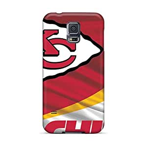 Scratch Protection Hard Phone Case For Samsung Galaxy S5 (heg13377ueys) Custom Attractive Kansas City Chiefs Pattern