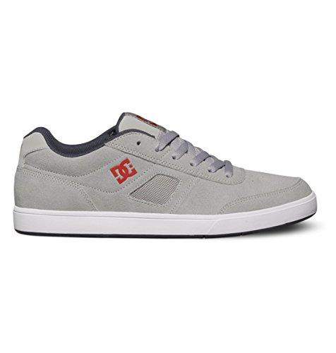 DC Men's Cue Skate Shoe,Grey/Red/White,13 M US