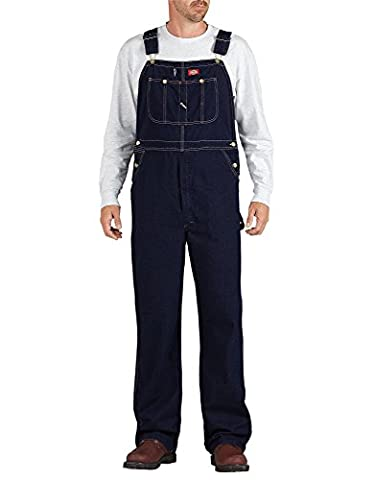 Dickies Men's Bib Overall, Blue, 34x32