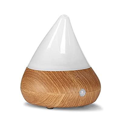 Pakway Smart Aromatherapy Essential Oil Diffuser-Portable Ultrasonic Cool Mist Aroma Humidifier with Waterless Auto Shut-Off WOOD GRAIN