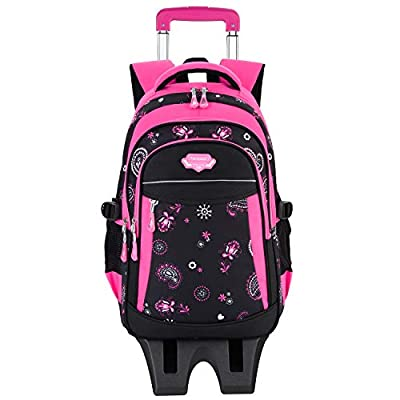 Rolling Backpack for Girls, Fanspack Backpack with Wheeled for Girls | Kids' Backpacks