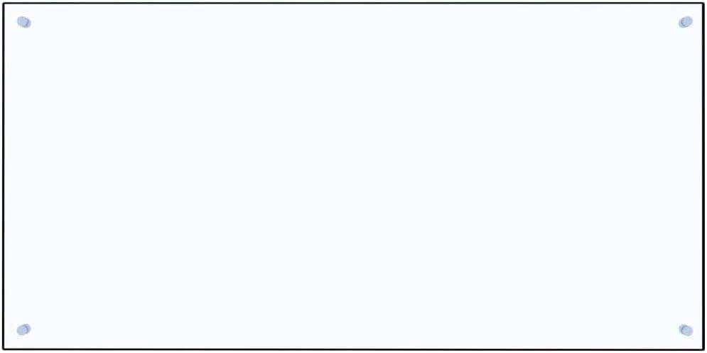 Festnight Paraschizzi per Cucina Trasparente in Vetro Temperato 70x60 cm