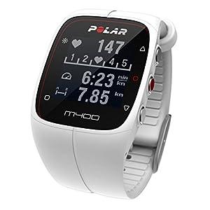 Polar Men's M400 90051346 White Silicone Quartz Watch