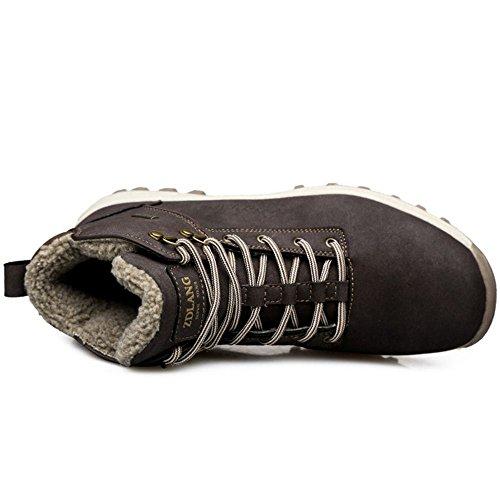 Lavoro Brown Uomo Stivali Scarpe Classic Stringate Dark Basse Razamaza 87nFHxw