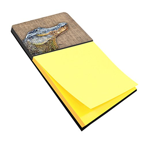Treasures Desk Alligator (Caroline's Treasures 8733SN Alligator Refiillable Sticky Note Holder or Postit Note Dispenser, Large, Multicolor)