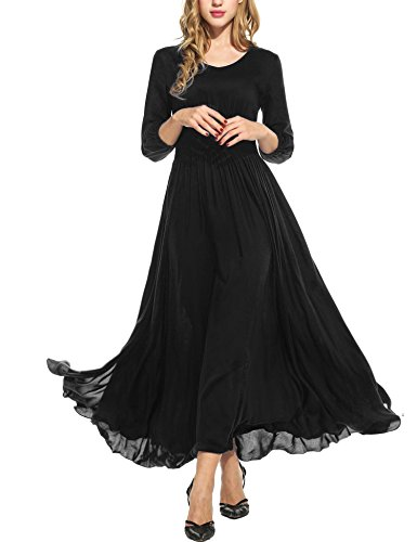 long black plus size evening dresses - 5