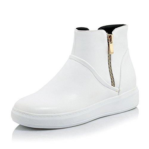 KHSKX-Koreanische Junior High School Kinder Ist Student Schuhe Mädchen Stiefel Kinder Lederstiefel 10-12-13-15 - Jährige Weiße Stiefel white
