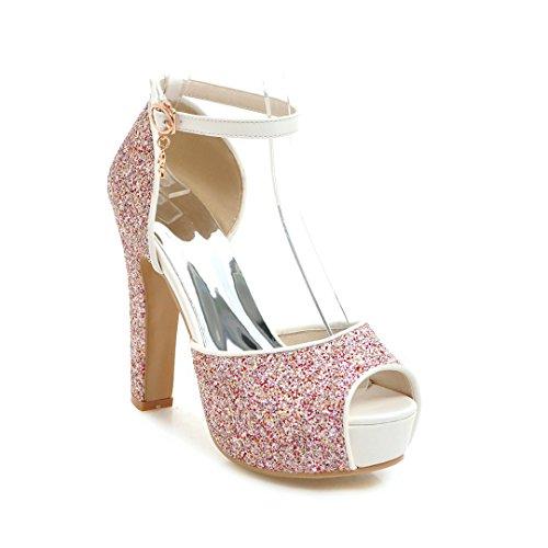 Alta Boca de 31 43 Sandalias Mujer Plataforma con de de Moda Boda Impermeable Zapatos tac Sandalias Verano Gruesa Brillante de con pez para 61ZXZYq