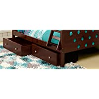 DONCO Kids 505-CP Dual Under bed Storage Drawers, Dark Cappuccino