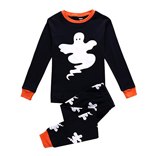 Boys Pajamas Dinosaur Kids PJS Sets 100% Cotton Toddler Sleepwears (2T, Ghost)