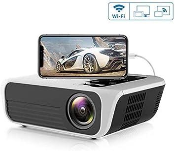 El proyector 1080p, con el Espejo Link, HD 4500Lux Home ...