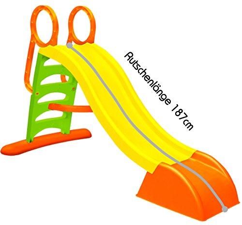 Rutsche mit Wasseranschluss extra Lang 187cm Wasserrutsche Kinderrutsche Gartenrutsche