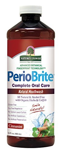 Nature's Answer PerioBrite Alcohol-Free Mouthwash, Cinnamint, 16-Fluid Ounce by Nature's Answer