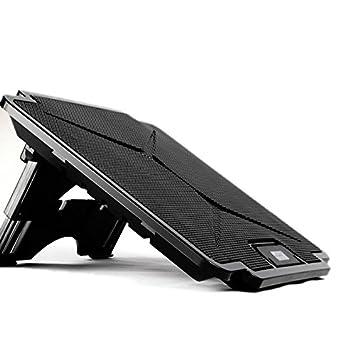 qjoy – Base de refrigeración para ordenador portátil Chill Mat de refrigeración pad ajustable soporte con